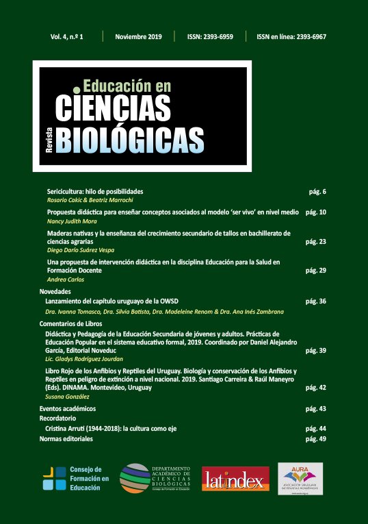 Revista Educación en Ciencias Biológicas